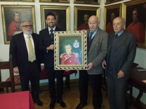 Con Fra' Giacomo Dalla Torre del Tempio di Sanguinetto - Luogotenente di Gran Maestro del Sovrano Ordine di Malta