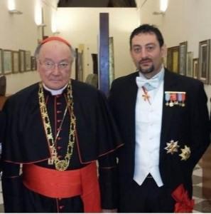 S.E.R. il  Cardinale Renato Raffaele Martino è Gran Priore del Sacro Militare Ordine Costantiniano di San Giorgio