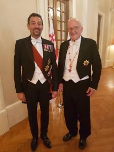 Con S.A.I. & R. Andrea Salvatore D'Asburgo-Lorena Arciduca D'austria e Principe di Toscana  Principe Reale D'Ungheria Principe di Boemia