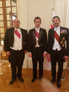 Con S.E. Don Alfredo Escudero y Díaz-Madroñero, Cancelliere della Casa Reale di Georgia e S.A.R. Il Principe Ugo Bagration of Mukhrani